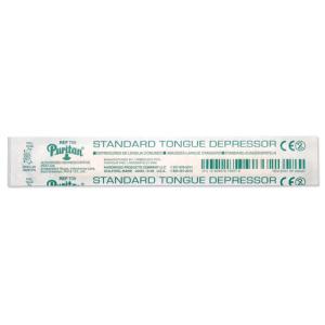 "Puritan Standard 6""x0.688"" Wood Tongue Depressor Non-Sterile 250 Individually Wrapped/Box 10Boxes/Case"