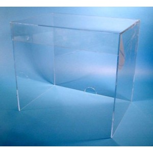 "S-Curve Cleanroom Laboratory Equipment Cover 36""Wx24""Hx18""Dx1/4"" Clear Acrylic"