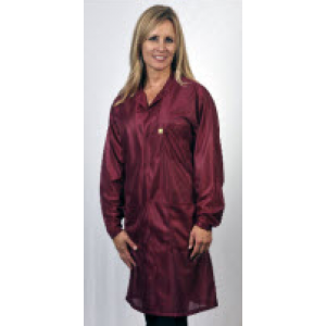 "Tech Wear ESD-Safe 32""L Traditional Coat OFX-100 Color: Burgundy Size: 3X-Large"