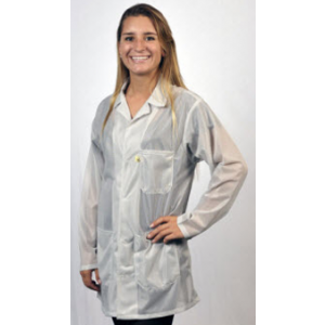 """Tech Wear ESD-Safe 31""""L Traditional Jacket With ESD Cuff OFX-100 Color: White Size: Small"""