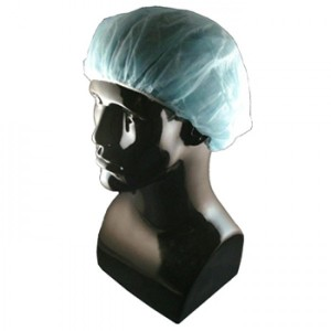 """T31578-24W Epic Cleanroom Disposable Pleated 24"""" Bouffant Blue Polypropylene *Latex Free* 1000/Case"""