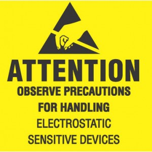 "VSP 306-0404 Label 4""x4"" Yellow/Black 500/Roll ""Attention Observe Precautions"" (VSP)"