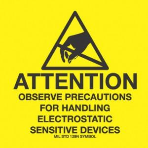 "VSP 307-0202 Label 2""x2"" Yellow/Black 500/Roll ""Attention Observe Precautions"" (VSP)"