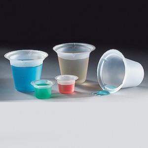 3602 Globe Scientific  GS3602 Four Pour Spout  Beaker Disposable 10mL Polystyrene 1000/Cs (VSP)