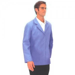 "Tech Wear Nylostat ESD-Safe 29""L Jacket Cotton/Poly Woven Color: Blue Size: Small"