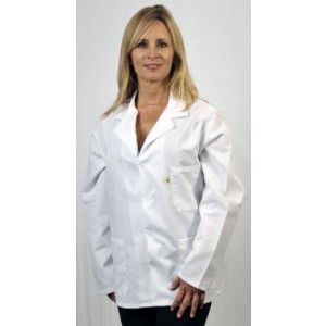 "Tech Wear Nylostat ESD-Safe 31""L Jacket Cotton/Poly Woven Color: White Size: 3X-Large"