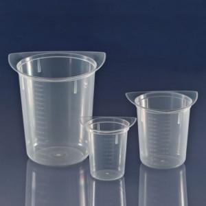 3635 Globe Scientific GS3635 Tri-Corner Clarified Plastic 1000mL Beaker Polypropylene 100/Case (VSP)