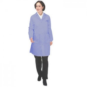 "Tech Wear Nylostat ESD-Safe 40""L Coat Cotton/Poly Woven Color: Nasa Blue Size: Small"