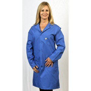 "Tech Wear Nylostat ESD-Safe 43""L Coat Cotton/Poly Woven Color: Blue Size: 5X-Large"