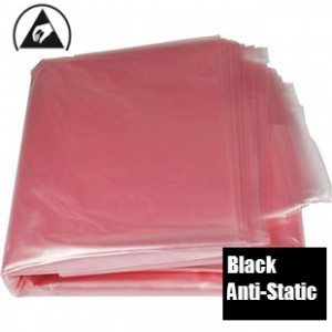 "ACL Staticide Trash Can Liner 11 Gallon 34""x 24"" Black Anti-Static 1.5mil Polyethylene 50/Pack"