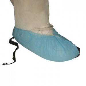 T544783-L-Epic  Shoe Cover Cleanroom Disposable Polypropylene Regular Sole and Conductive Strip Size Large Color: Blue-544783-L