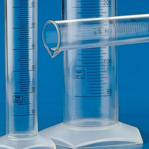 602574 Globe Scientific GS602574 Graduated Cylinder PMP Blue Printed Graduations 250mL 12/Pack (VSP)