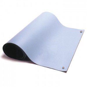 "ACR3040B ACL Dualmat™ 2-Layer Diss/Cond Rubber Roll 30""x40' Light Blue /Black - No Snaps or Cord"