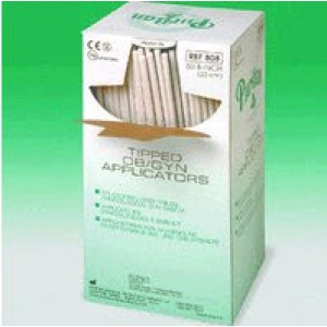 """808 Puritan Rayon Swab 8""""x 1.125"""" OB/GYN & Proctoscopic Oversized Tip, Paper Handle, Non-Sterile"""
