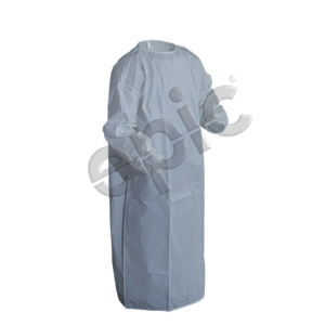 816851ts-Epic Cleanroom Premium Coated Barrier Gown White