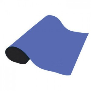 "ACL Staticide Dualmat™ 2-Layer Diss/Cond Rubber Roll 36""x40' Royal Blue/Black - No Snaps or Cord"