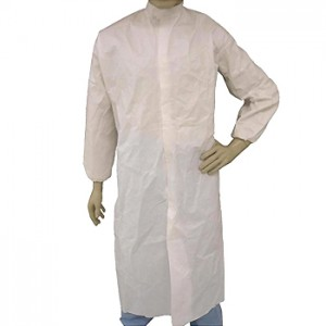 Epic Cleanroom Disposable Smock ESD-Safe Microporous Coated