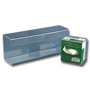 """S-Curve Cleanroom Tissue Box Holder/Dispenser """"Large"""" 15""""Wx5.25""""Hx3.75""""Dx1/8""""Thick Clear Acrylic With Wall Mount Hardware 5/Case"""