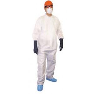 UltraGuard Coveralls -Zip Front- Elastic Wrist & Ankle Size:XL White (25 Pcs/Case)