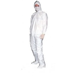 UltraGuard APP0230W-4X, APP0230-W-4XL, Coveralls Elastic Wrist & Ankle with Attached Hood & Boot, PE Coated Polypropylene Advantage Plus   Color: White Size: 4X-Large 25/Case
