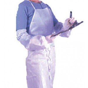APP0280--42 APRON DISPOSABLE WHITE ONLY 3LAYER