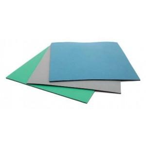 "BotronType T2 Rubber 2-Layer Workstation Kit 24""x48""x.060 Includes: 3'x5' Gray Dissipative Rubber Floor Mat, Wrist Strap Set & Grounding Color: Gray"
