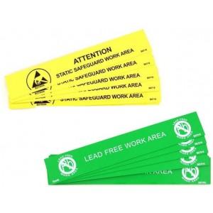 """B6716 Botron 1""""x6"""" Awareness Bench Sign 10/Pack"""