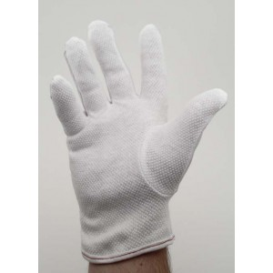 "Botron Dissipative 9"" Gloves With PVC Dotted Palm"