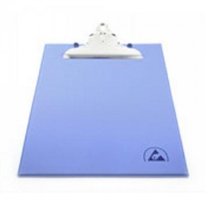 "Botron ESD-Safe Clipboard 9""x12"" W/ESD Symbol Color: Blue"