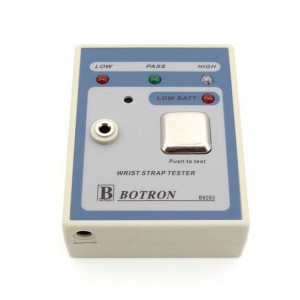 B8203 Botron Portable Wrist Strap Tester Includes 9 Volt Battery