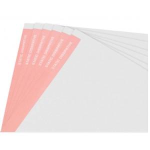 """Botron ESD Paper 8.5""""x11"""" White W/Light Red Stripe on Edge 500/Ream"""