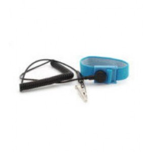 "B9034 Botron Wrist Strap Only Blue Fabric Adjustable With 1/4"" (7mm)  Snap"