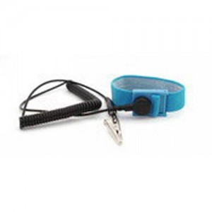"Botron Wrist Strap Set Blue Fabric Adjustable With 12' Cord 1/4"" (7mm) Snap"