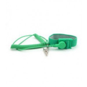 "B9008GN Botron Wrist Strap Set  Green Fabric Adjustable With 6' Cord 1/8"" (4mm)  Snap"