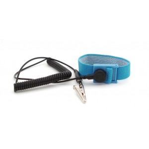 "B9038 Botron Wrist Strap Only Blue Fabric Adjustable With 1/8"", (4mm)  Snap"