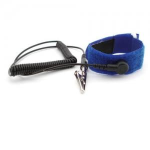 "B9228 Botron Wrist Strap Set Black Hook/Loop With Standard 12' Cord 1/8"" (4mm) Snap"