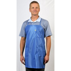 BEA-43 Tech Wear EconoShield ESD-Safe Apron BBQ-Style ECX-500 Fabric 3-Pockets One-Size-Fits-All Color: Blue