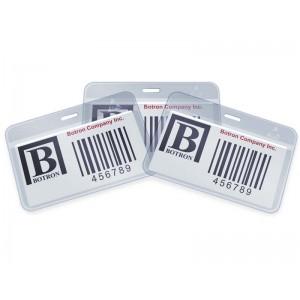"Botron ESD-Safe ID Card Holder Anti-Static 4""x2-1/4""+1/4"" Header Horizontal No Clip 200/Pack"