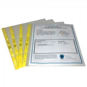 Transforming Technologies Cleanroom Safe Inherently Dissipative ESD Sheet Protectors DC1185IDP Nine Hole Punch 100/Pack