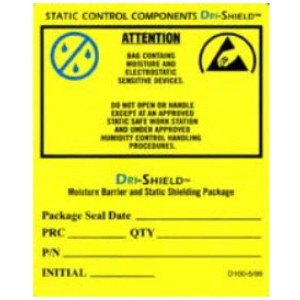 3M DRILABEL Dry Packaging Label 4 x 5 Yellow/Black 100/Roll