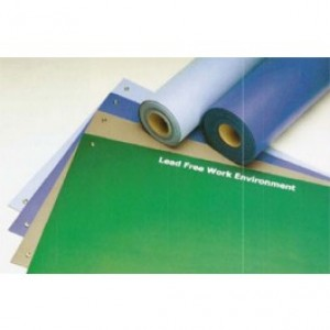 "ACM2436RB ACL Dualmat™ 2-Layer Diss/Cond Rubber Worktop Mat 24""x36""x0.80"" Royal Blue/Black W/ 2 Snaps"