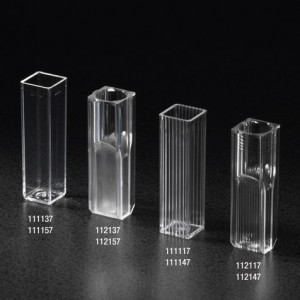 11117 Globe Scientific Cuvette, Spectrophotometer, Square, 4.5mL (10mm), PS, 2 Clear Sides