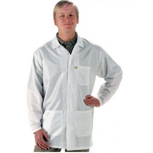 "Tech Wear EconoShield ESD-Safe 34""L Coat ECX-500 Color: White Size: 2X-Large"