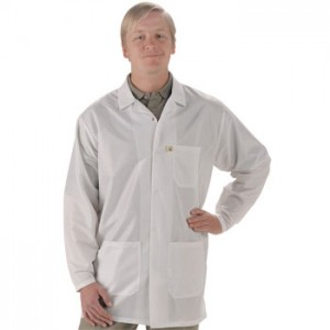 "Tech Wear EconoShield ESD-Safe 30""L Coat ECX-500 Color: White Size: Small"