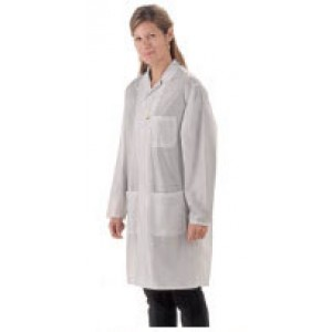 "Tech Wear ESD-Safe 32""L Traditional Coat OFX-100 Color: White Size: X-Small"
