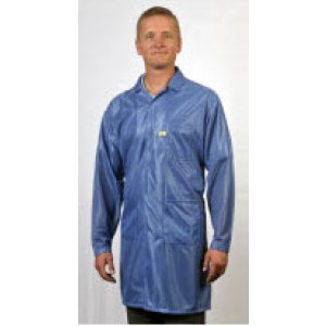 """Tech Wear ESD-Safe 32""""L Traditional Coat OFX-100 Color: Blue Size: Small"""