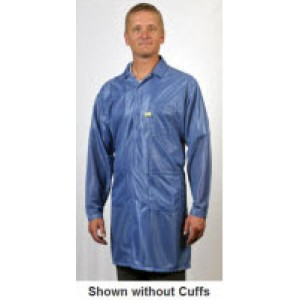 "Tech Wear ESD-Safe 40""L Traditional Coat With ESD Cuff OFX-100 Color: Hi-Tech Blue Size: 3X-Large"