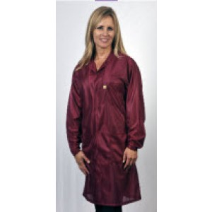 "Tech Wear ESD-Safe 32""L Traditional Coat OFX-100 Color: Burgundy Size: Large"