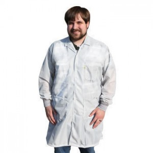 "Tech Wear ESD-Safe 40""L Traditional Coat With ESD Cuff OFX-100 Color: White Size: Small"