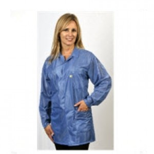 """Tech Wear ESD-Safe 32""""L Traditional Jacket OFX-100 Color: Blue Size: X-Small"""